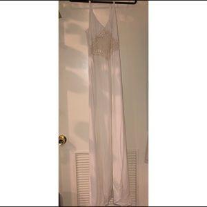 white, dressy, maxi dress (small)